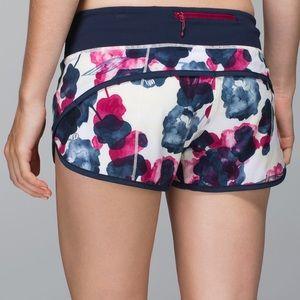 Lululemon Inky Floral Speed Shorts